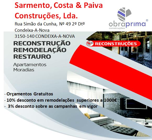 SARMENTO, COSTA & PAIVA Construções, Lda – Reconstruções e Remodelações Apartamentos e Moradias