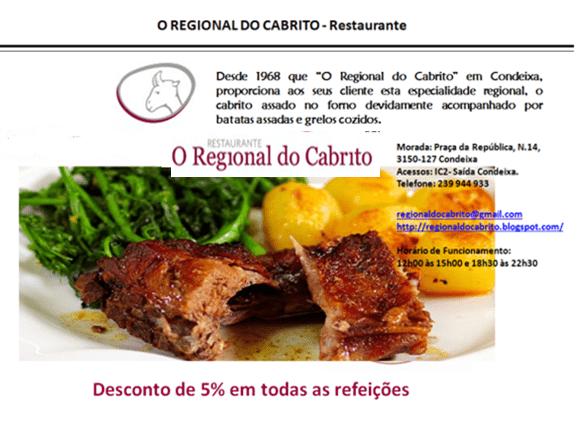 REGIONAL DO CABRITO – Restaurante – CONDEIXA