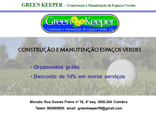 GREEN KEEPER – Construção e Manutenção de Espaços Verdes
